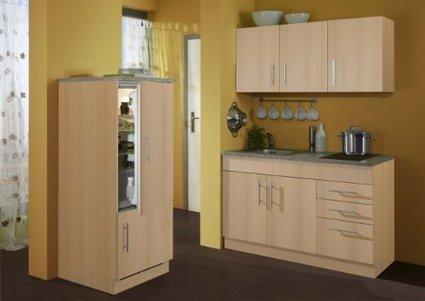 +++ Billige :    Held Möbel 907.6510 Single-Küche 180 mit 2-er Glaskeramikkochfeld und Kühlschrank mit Gefrierfach, buche | Spülenschrank Günstig | Scoop.it