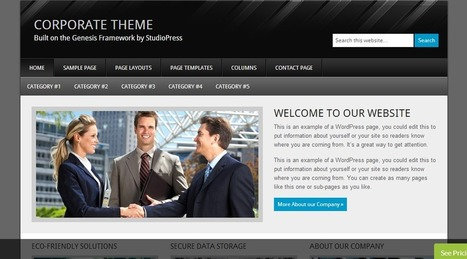 Corporate Theme by StudioPress | Wordpress Themes | Scoop.it