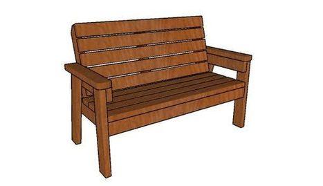 2x4 Outdoor Bench | Garden Plans | Scoop.it
