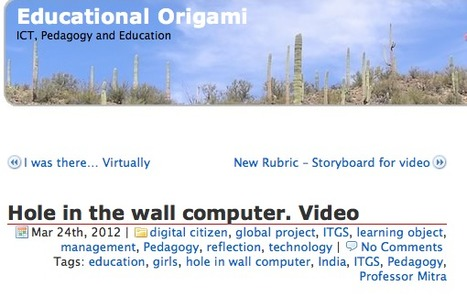 Educational Origami - Hole in the wall computer. Video | Minimally Invasive Education | Scoop.it