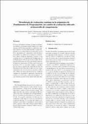 Metodología de evaluación continua en la asignatura de Fundamentos de Programación: un cambio de evaluación enfocado al desarrollo de competencias | Administración Educativa | Scoop.it