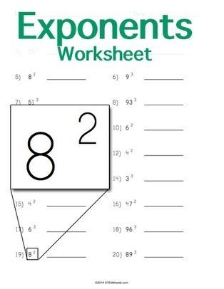 Exponents Worksheet Maker | STEM Sheets | Math Worksheets and Flash Cards | Scoop.it