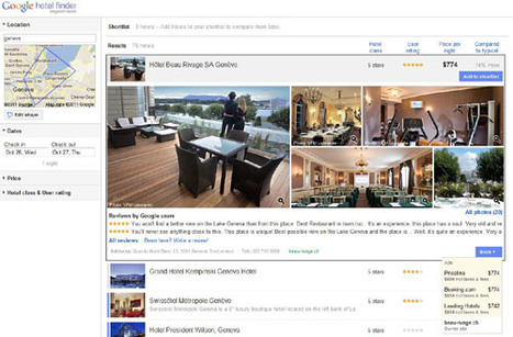 Google Hotel Finder débarque en Europe | Chambres d'hôtes et Hôtels indépendants | Scoop.it