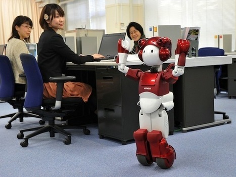 Hitachi's EMIEW Robot Learns to Navigate Around the Office | Robotic applications | Scoop.it