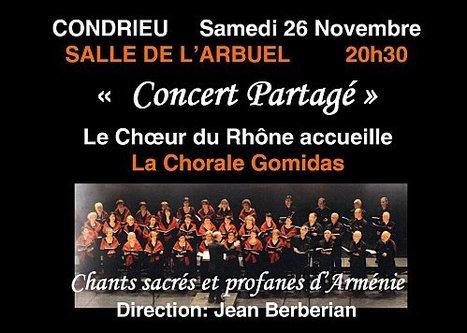 """""""Concert partagé"""" à CONDRIEU le 26 novembre à 20H30 - Mas de l ...   oenologie en pays viennois   Scoop.it"""