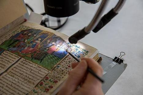 Guarding the dazzle of the past - At Weissman Preservation Center, conservators tend to treasures from Harvard libraries  | News in Conservation | Scoop.it