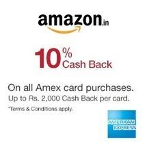 [American Express Cards] Amazon 10% Cashback | SaveMoneyIndia | Best Online Deal Website India. | Scoop.it