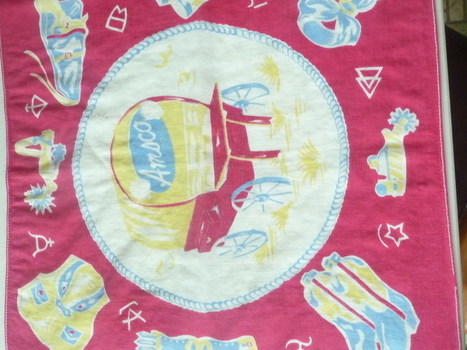 C1950 Western Theme Amsco Advertising Hankie   Antiques & Vintage Collectibles   Scoop.it