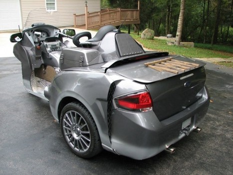 Bizarre Ford Focus-Honda Goldwing Trike Sells for $9100 - The News Wheel | Piques My Interest | Scoop.it