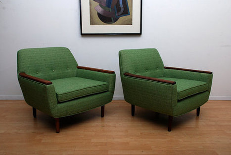 Pair of Club Lounge Arm Chairs Mid Century Modern by AMBIANIC | Interior Life | Scoop.it