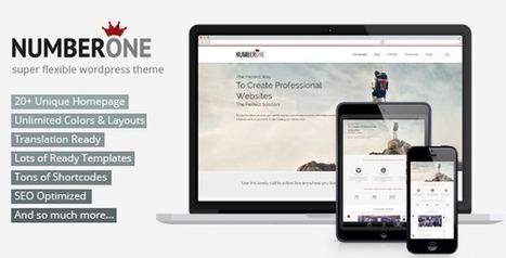 NumberOne - Flexible OnePage & Multipurpose Theme - Wordpress Themes | Themes4Free | Scoop.it