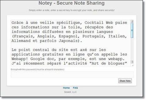 Envoyer un message secret sur le net: avec notey.org | Mobile Technology | Scoop.it