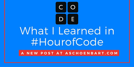 What I Learned in #HourofCode | Tech Learning | iPads in Education | Scoop.it