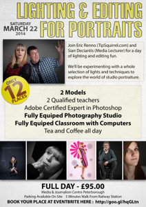 Workshop – Lighting and Editing for Portrait - TipSquirrel | Portrait Photography Hub | Scoop.it