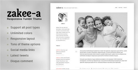 Zakeea-A | Clean and Simple Tumblr Blog Theme (Tumblr) | Tumblr Templates Download | Scoop.it