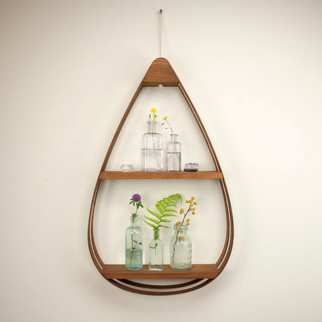Quirky Teardrop-Shaped Shelves Add Unconventional Style to Everyday Decor | Le Panda De Cina ✪ | Scoop.it