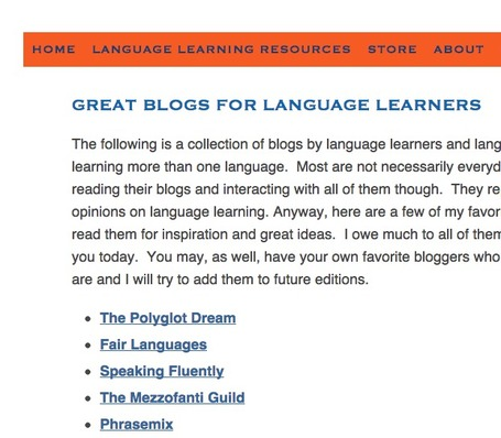 Great Blogs for Language Learners | The Everyday Language Learner | TELT | Scoop.it