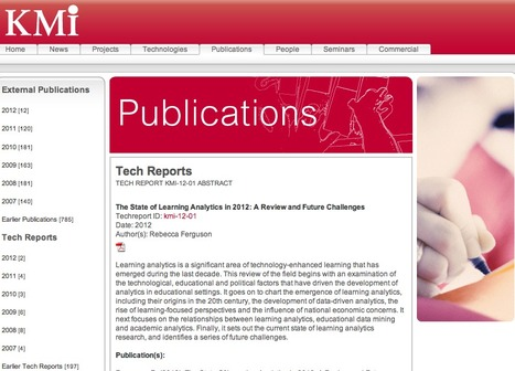 The State of Learning Analytics in 2012: A Review and Future Challenges | A New Society, a new education! | Scoop.it