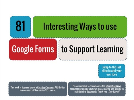 80 Ways to Use Google Forms to Support Learning | The Education Revolution | Scoop.it