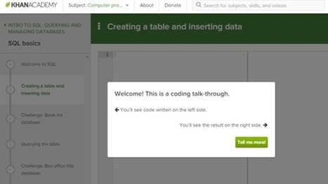 Learn SQL with Khan Academy's New Interactive Course | Bazaar | Scoop.it