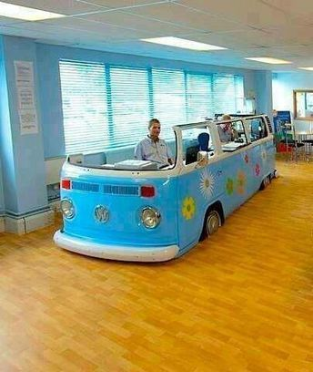 Circulation desk with a Volks | health and medical library | Scoop.it