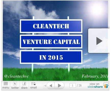 Cleantech Venture Capital in 2015 | Cleantech Investing ... | Cleantechnology | Scoop.it