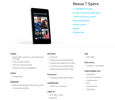 Nexus 7 disponible aujourd'hui en France | Fizz-it | STRATOGINA | Scoop.it