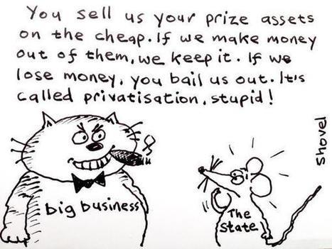 Twitter / MartinShovel: My cartoon - privatisation ... | Per saber+ | Scoop.it