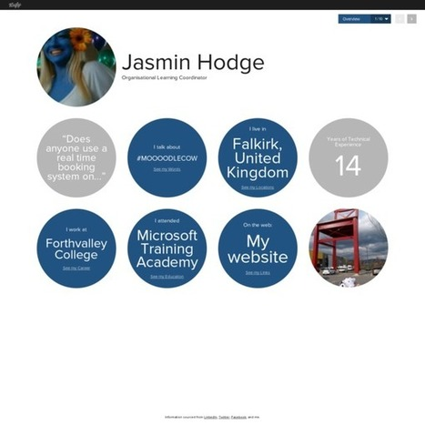 Jasmin Hodge's Vizify Bio | Overview | Learning Technologies from all over! | Scoop.it