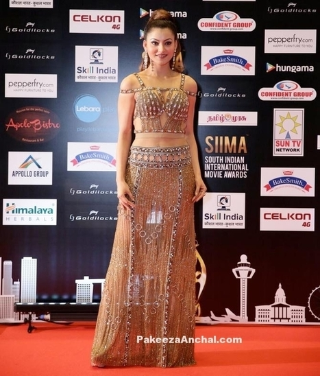 Urvashi Rautela in a Gold Gown at SIIMA Awards | Indian Fashion Updates | Scoop.it