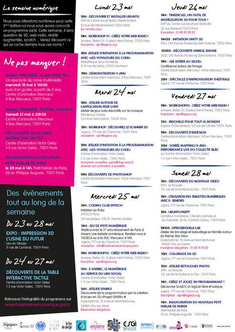 La Semaine Numérique : sept jours pour découvrir la culture numérique Parisienne | Veille professionnelle des Bibliothèques-Médiathèques de Metz | Scoop.it