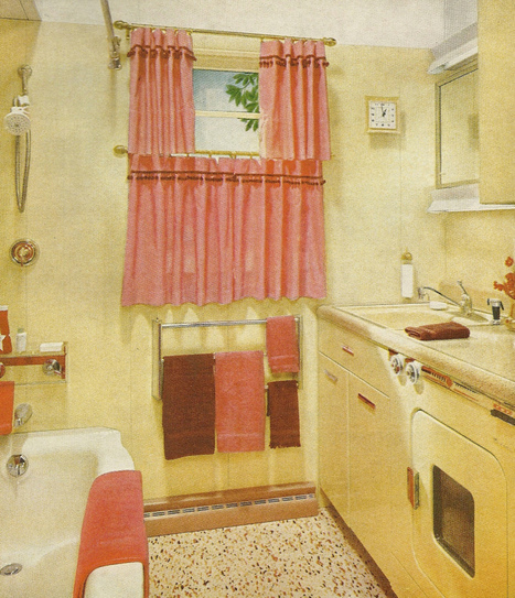Vintage home decorating 1960s decorating ideas for 1960s bathroom design