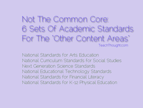 """6 Sets Of Academic Standards For The """"Other Content Areas"""" 
