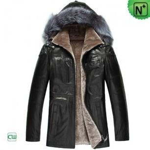 Shearling Jacket with Hood CW848396 | Men's | Scoop.it