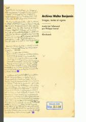 Archives Walter Benjamin. Images, textes et signes | Philosophie en France | Scoop.it