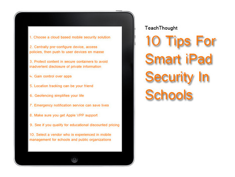 10 Tips For Smart iPad Security In Schools | technology and education | Scoop.it