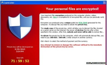 Cryptolocker 'infects 250,000 PCs' | IT Security Unplugged | Scoop.it