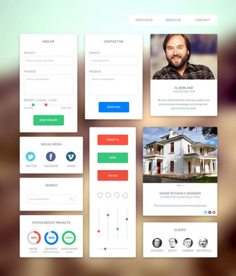 Free Flat UI Kits to Boost Your Designs in No Time (Part-2) | Designhill | Scoop.it