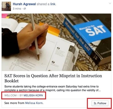 Quand Facebook lance son Authorship pour s'Abonner à un auteur   Pascal Faucompré, Mon-Habitat-Web.com   Scoop.it