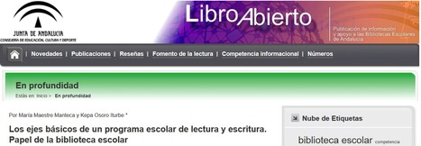 Los ejes de un programa escolar de lectura y escritura | Red Profesional de Bibliotecas Escolares de Granada | Scoop.it