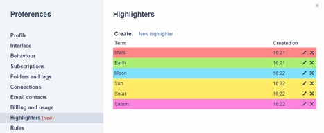 InoReader's new feature: spot the most important terms with highlighters | RSS Circus : veille stratégique, intelligence économique, curation, publication, Web 2.0 | Scoop.it