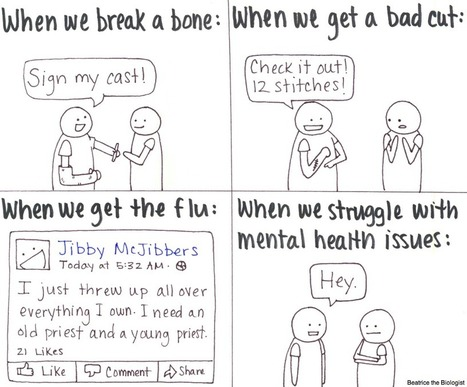 Twitter / SuicidePrevAU: This thoughtful comic comes ... | Depression a Flaw in Chemistry | Scoop.it