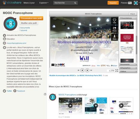 Le compte [SlideShare] MOOC Francophone est officiellement ouvert | Time to Learn | Scoop.it