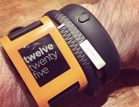 Pebble + Glass + iWatch + Gear + FitBit + Fuelband = 64M units shipped by 2017 | banque du futur | Scoop.it