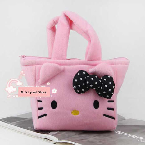 Aliexpress.com : Buy Pink Hello Kitty Tote Bag Hello Kitty Plush Handbag with Bow from Reliable hello kitty handbag suppliers on  Miss Lyra | Hello Kitty | Scoop.it