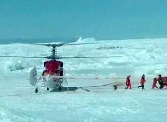 "duh, Helicopter rescues ""global warming"" research team on stranded Antarctic ship 