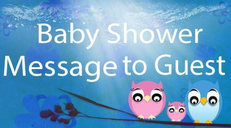 Baby Shower Message to Guest | Baby Shower Messages | Scoop.it