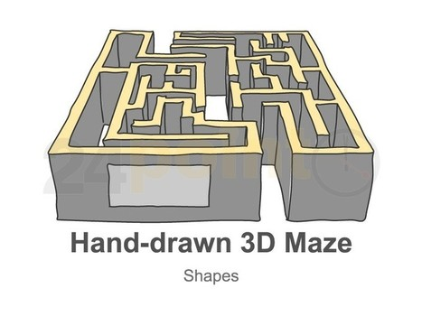 3D Labyrinth - Hand-drawn Diagrams in PowerPoint | media archaeology | Scoop.it