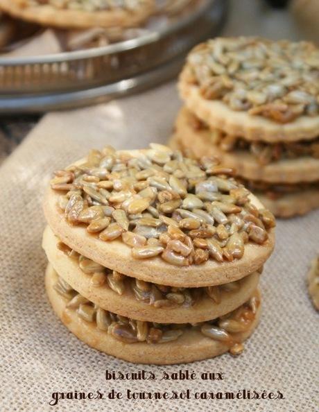 biscuits sablé aux graines de tournesol caramélisées | gateaux algeriens 2015 | Scoop.it