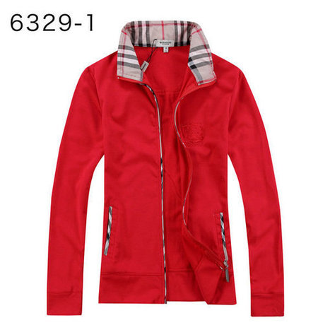 Burberry Fleece Long Sleeve Shirts Zipper Sale For Women Red | Burberry Shirts mens and  womens | Scoop.it